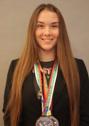Strieborná medailistka Klaudia Lišková