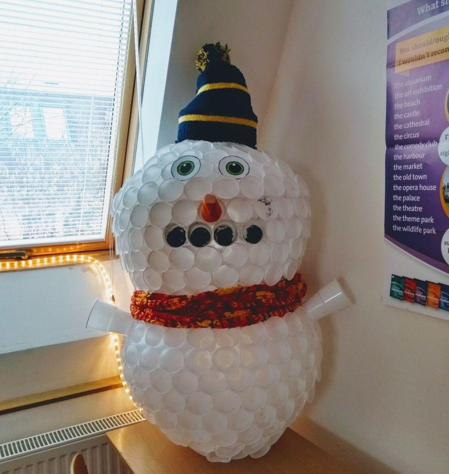 Vianočný snehuliak inak