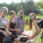 Športový deň a varenie guľášov