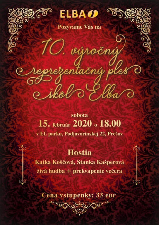 10. výročný reprezentačný ples škôl ELBA